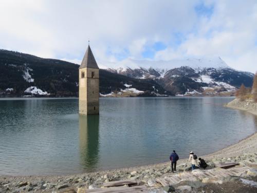 Curon Venosta Church Lake Resia, Italy